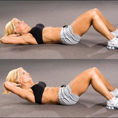 uprazhnenie skruchivanie1 - 5 простых упражнений на каждый день для подтянутой фигуры