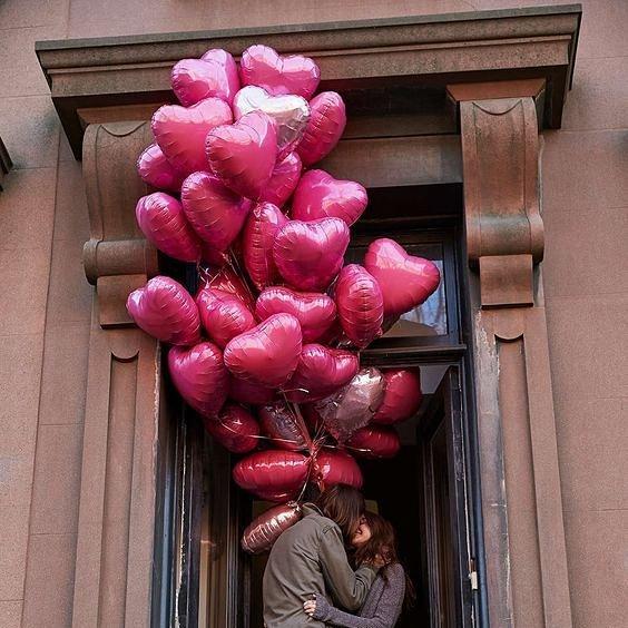 воздушные шарики для свидания