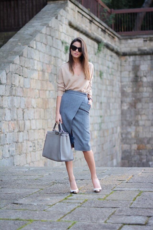 Юбка-карандаш и блузка