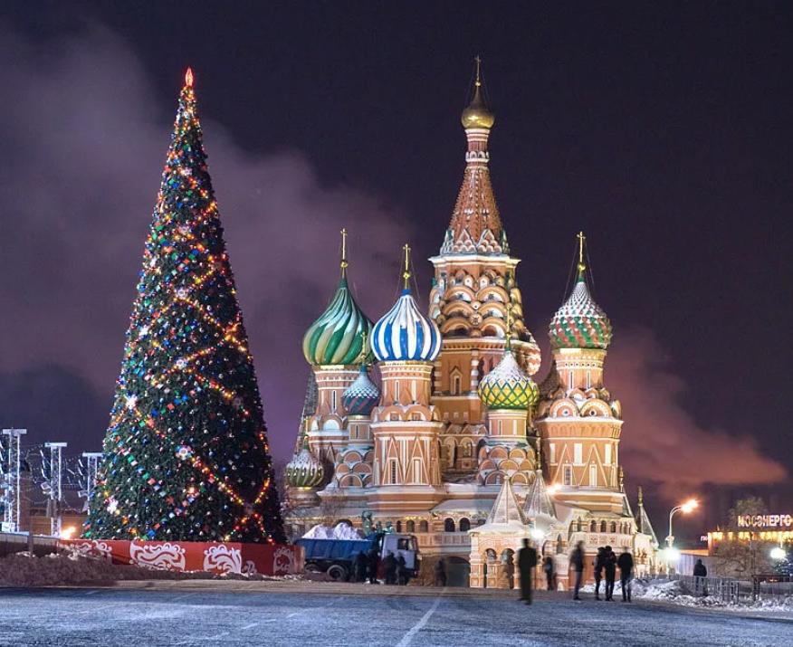 elka moskva - Самые красивые новогодние елки России и Европы 2020