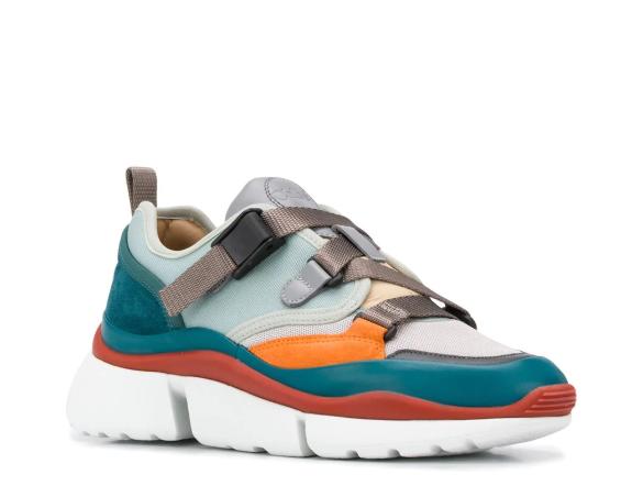 цветные кроссовки CHLOÉ