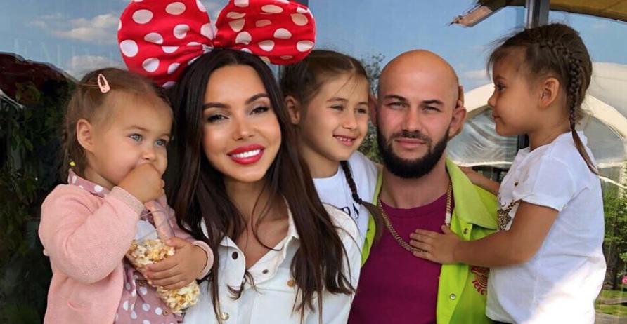 Джиган и Самойлова с детьми