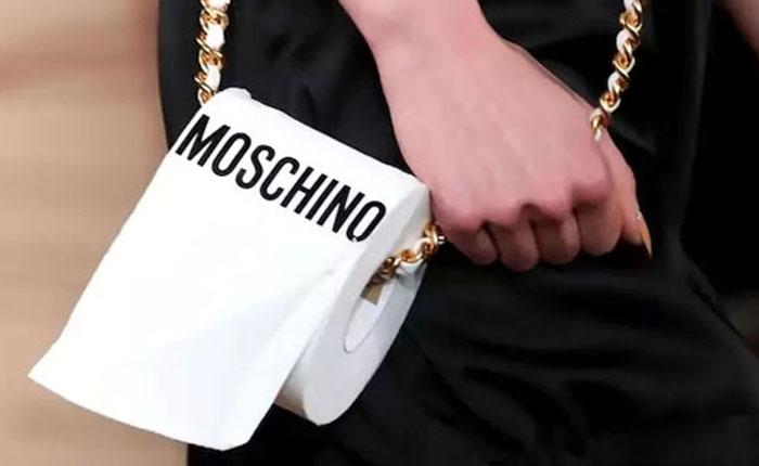 сумка Moschino туалетная бумага