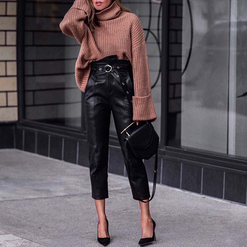 kozhanye kyuloty - Самые стильные брюки для лета 2020