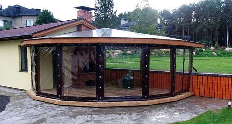 myagkie okna iz pvh - Мягкие окна ПВХ – изящный и недорогой вариант для летних веранд