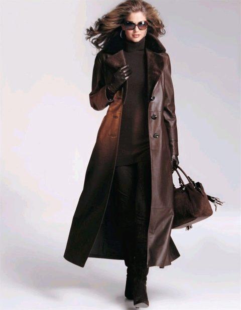 kozhanoe palto1 - Модные идеи для осеннего пальто
