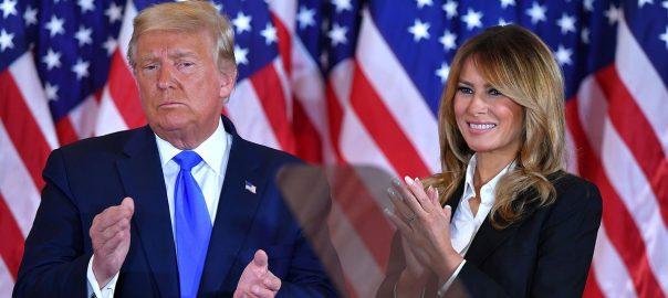 Мелания Трамп и Дональд Трамп