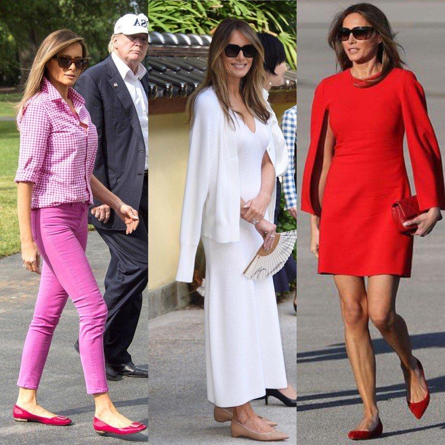 Melaniya obuv - Мелания Трамп разводится с мужем? Как первая леди выдерживала деловой стиль и стала иконой моды