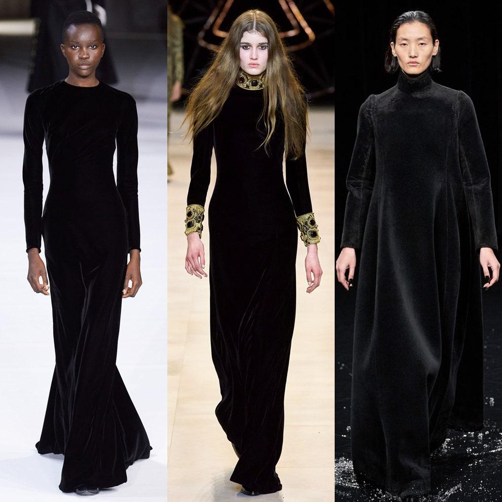 длинные бархатные платья
