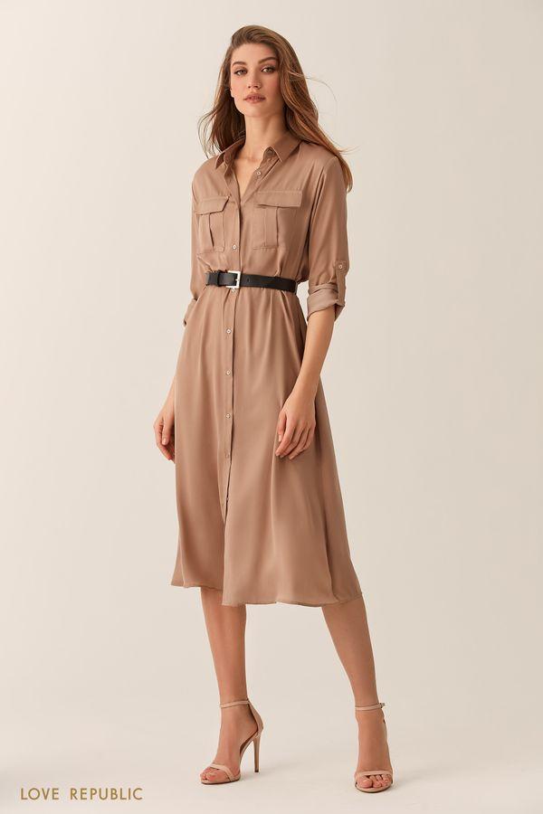 платье-рубашка 2020