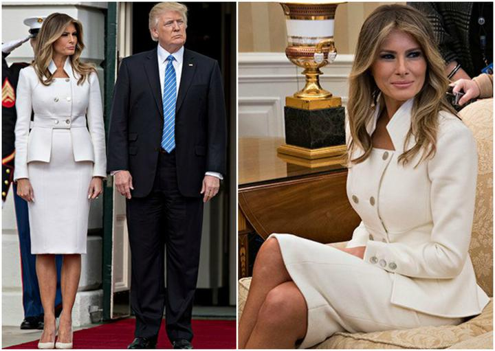 stil melanii1 - Мелания Трамп разводится с мужем? Как первая леди выдерживала деловой стиль и стала иконой моды