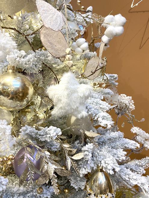Новогодняя елка серебристая