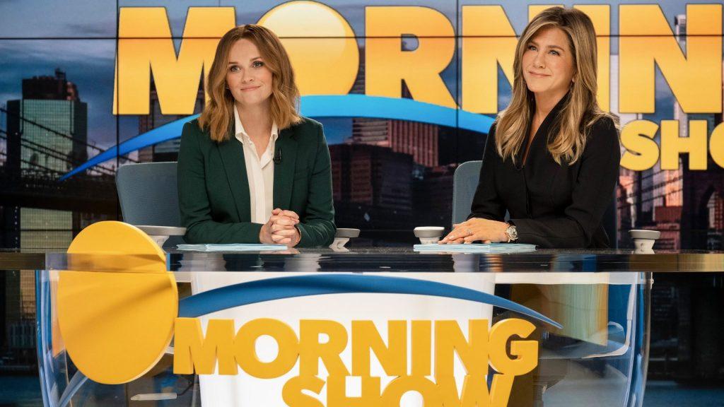 """utrennee shou 1024x576 - Дженнифер Энистон и Риз Уизерспун в """"Утреннем шоу"""": есть еще порох"""