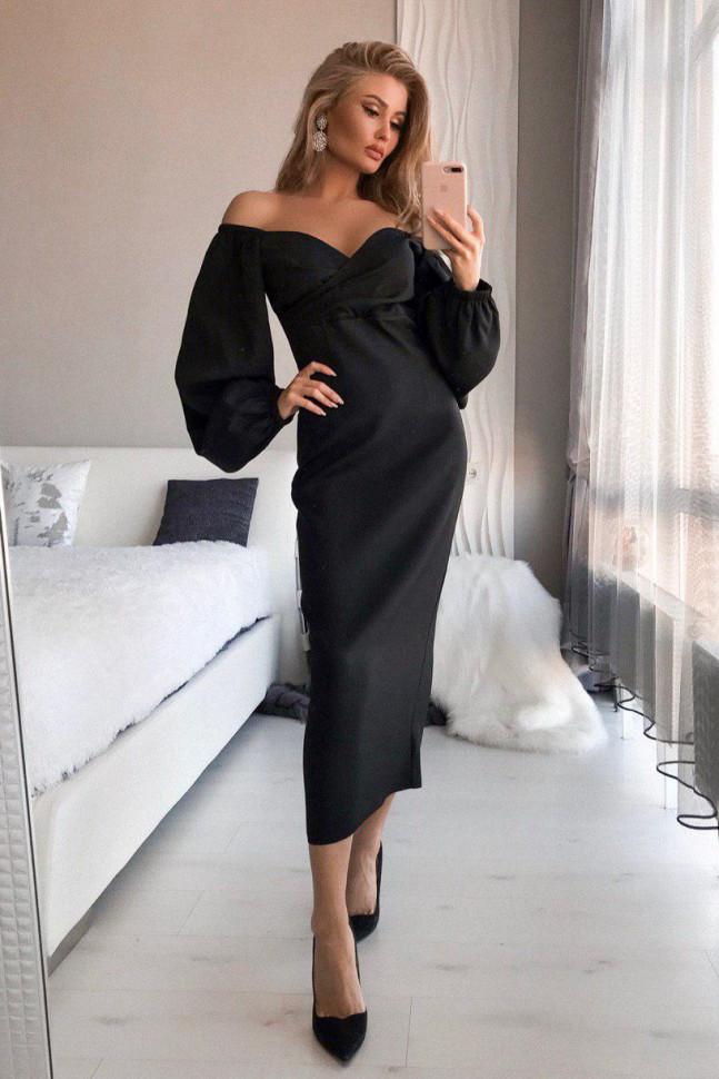 Черное платье на выпускной