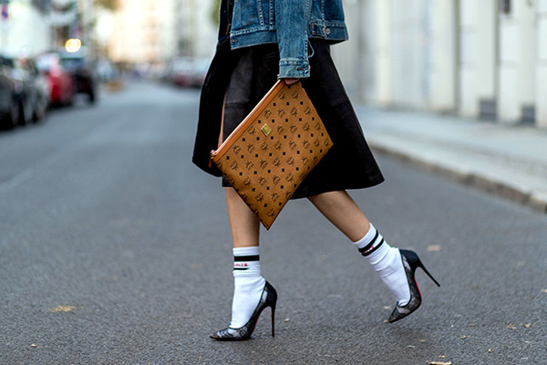 Сочетание носков и туфель