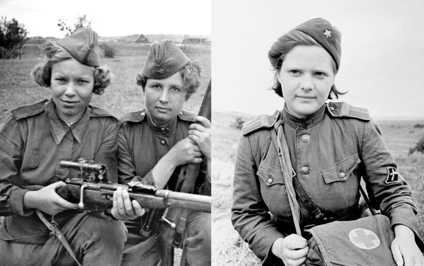 zhenshhiny na vojne - Мужские кальсоны и белье из парашютов: что носили женщины во время Великой Отечественной войны