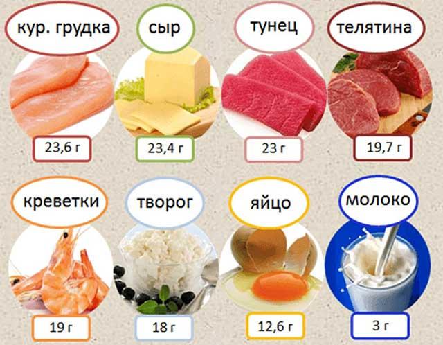 Белок в продуктах